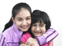Two asian sisters of indian origin Stock Photos