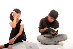 Two Asian student royalty free stock photo