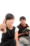 Two Asian student Royalty Free Stock Images