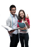 Two asian students smiling Royalty Free Stock Images