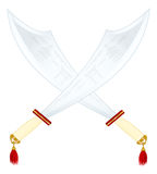 Two asian swords Royalty Free Stock Photography