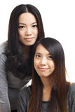 Two asian woman friends Stock Photos