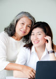 Two asian women Stock Photo