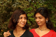 Two Asian women friends Royalty Free Stock Images