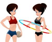 Two Athletes Girls Royalty Free Stock Photo