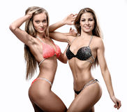 Two attractive athletic girl Royalty Free Stock Image