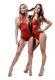 Two attractive athletic girls Stock Photos