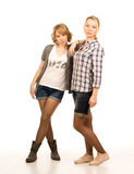 Two attractive blonde students Royalty Free Stock Photos