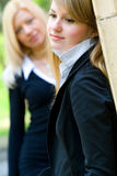Two attractive blonds Stock Images