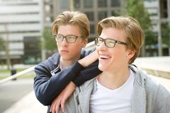 Two attractive brothers Stock Photography
