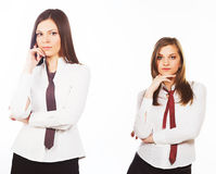 Two attractive business woman Stock Photos