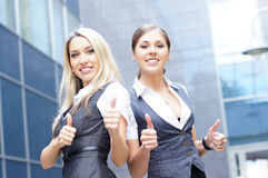 Two attractive business women Stock Photography