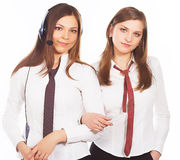 Two attractive business women Royalty Free Stock Photos
