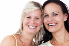 Two attractive, fun girl portrait. Royalty Free Stock Photography