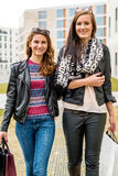 Two attractive girls shopping Royalty Free Stock Images