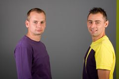 Two attractive guy Royalty Free Stock Image