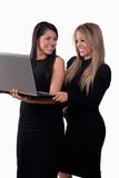 Two attractive hispanic twenties businesswomen Royalty Free Stock Image