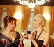 Two attractive lady on a party. Stock Images