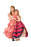 Two attractive little girls. In a long dress Royalty Free Stock Photo