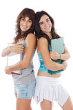Two attractive students Royalty Free Stock Photography