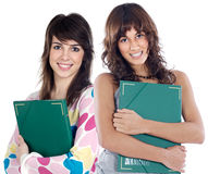 Two attractive students Royalty Free Stock Image