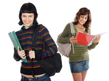 Two attractive students Royalty Free Stock Photos