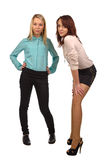 Two attractive teenage girls Royalty Free Stock Images