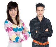Two attractive teenagers Royalty Free Stock Images