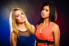 Two attractive women portrait. Stock Images