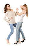 Two attractive women Royalty Free Stock Photos