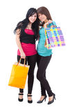 Two attractive young women Stock Photos
