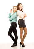 Two attractive young women friends Royalty Free Stock Photos