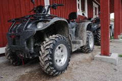 Two ATVs outdoor Stock Photo
