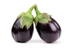 Two aubergine Royalty Free Stock Image