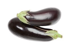 Two aubergine Stock Images