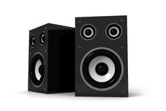 Two audio speakers Royalty Free Stock Photo