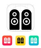 Two audio speakers icon. Vector illustration Royalty Free Stock Photo