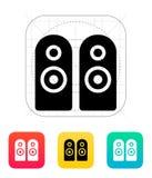 Two audio speakers icon. Vector illustration stock illustration