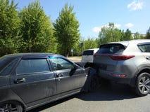 Two autos crashed Stock Image