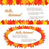 Two autumn horizontal banners Stock Photography