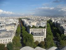 Two Avenues and The Sacre Coeur Church Paris Stock Photography