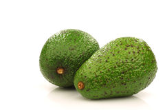 Two avocado's stock photography