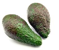 Two avocados Stock Image