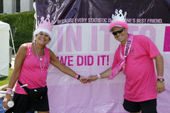 Two Avon Cancer walk participants Royalty Free Stock Photo