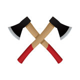 Two axes emblem, vector icon. Royalty Free Stock Image