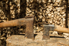 Two axes Stock Photos