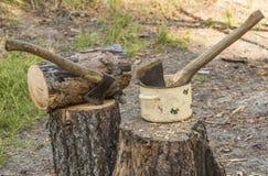 Two axes Stock Photos