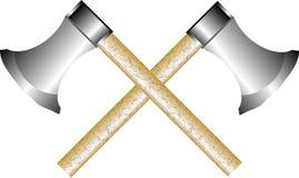 Two axes on white Stock Photos
