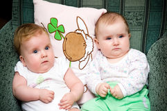Two babies royalty free stock photos