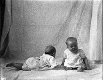 Two babies, 1915 Royalty Free Stock Image